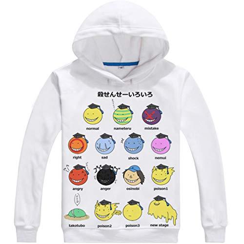 WANHONGYUE Anime Assassination Classroom Hoodie Sudaderas con Capucha Cosplay Disfraz Pulóver Sweatshirt Outwear Top Abrigo