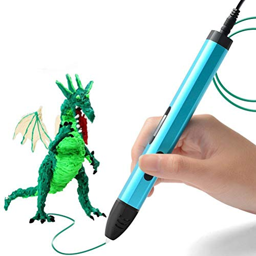 MAMU 3D Pen, 3D Printing Drawing Pen, 1.75Mm PCL/ABS/PLA Filament, Best Birthday Toys for Kids,Blue