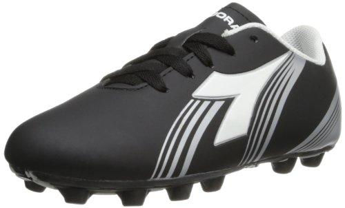 Diadora Soccer Avanti MD JR Fußballschuh (Kleinkind/kleines Kind/großes Kind), Schwarz (Schwarz, Weiß, silberfarben), 28 EU