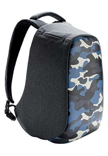 XD Design Bobby Compact Print Zaino Antifurto Camouflage Blu con USB