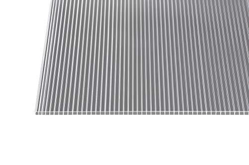 Polycarbonat Stegplatten Hohlkammerplatten klar 10 mm (2000 x 1050 x 10 mm)