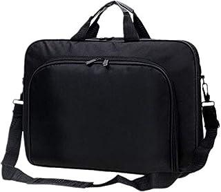 Laptop Bag 15Inch Briefcase Shoulder Messenger Bag Water Repellent Laptop Bag Satchel Tablet Bussiness Carrying Handbag Laptop Sleeve for Unisex (Color : Black, Size : Free Size) Elise