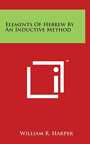 Elements of Hebrew by an Inductive Method