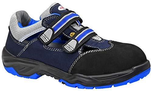 "Elten 72944-48 - Sandalias de seguridad""Runabout Easy"" ESD S1, talla 12.5, negro/gris/azul"