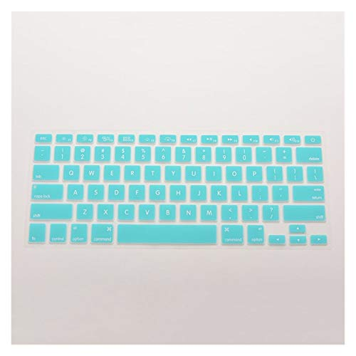 Durable keyboard stickers 7 Candy Colors 28.7cm x 11.9cm Silicone Keyboard Skin Cover For Apple Macbook Pro MAC 13 15 17 Keyboard accessories (Color : Blue)