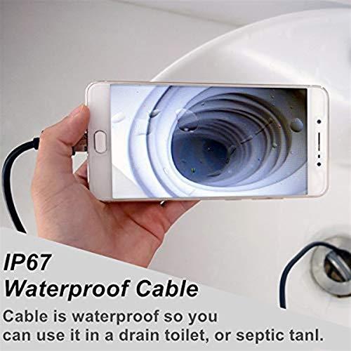 Verifique la cámara Endoscopio tubo de cámara boroscopio cámara impermeable del USB con 7 mm 5,5 mm lente 6 LED de luz for el teléfono Android for Tablet PC con Windows Se utiliza para el mantenimient