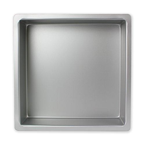 PME Cuadrado Molde para Pastel de Aluminio, Plateado, 12 x 12 x 4 Pulgadas