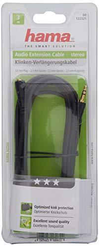 Hama 00122321 3m 3.5mm 3.5mm Schwarz Audiokabel