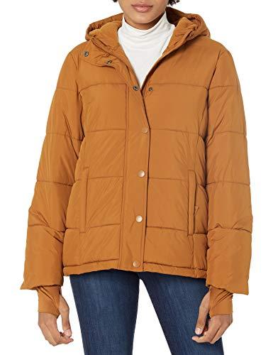 Amazon Essentials Chamarra con Capucha de Peso Pesado. Down-Alternative-Outerwear-Coats, Camel Oscuro, US XS (EU XS - S)