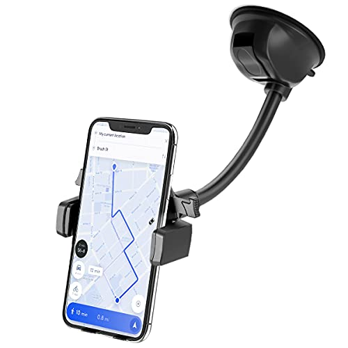 Soporte Movil Coche Ventosa para Parabrisas Salpicadero, Porta Movil Para Coche para la Mayoría de los Téléfonos Inteligentes y Dispositivos GPS