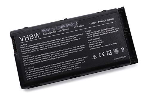 vhbw Akku für Medion MD96500, MD97500, MD97600, WIM2040, WIM2050 Notebook Laptop wie BTP-AJBM, BTP-AKBM, BTP-ALBM, 40013534 - (Li-Ion, 4400mAh, 14.8V)