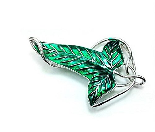 ARMAC Green Leaf Elf Brooch Brooch Necklace Dual-Purpose Trinket Pendant Necklace
