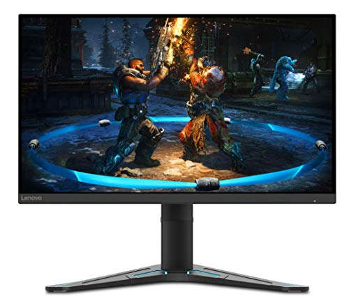 """Lenovo G27-20 Gaming Monitor, Display 27"""" Full HD (1920x1080, Bordi Ultrasottili, FreeSync, 1ms, 144Hz, Cavo DP, Input HDMI + DP) - Raven Black"""