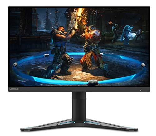 Lenovo G27-20 - Monitor Gaming de 27' (Pantalla FullHD, 1920x1080 Píxeles, 144Hz, 1 ms, Puertos HDMI+DP, Cable DP) - Regulable en Altura e inclinación, Color Negro