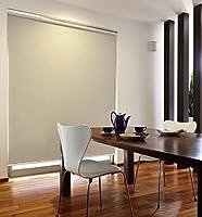 トーソー ロールスクリーン ラビータ ミックス 遮光3級 サイズ 幅60cm×丈180cm スプリング式 クリーム(R501)