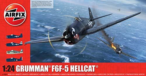 Airfix A19004 1/24 Grumman F6-F5 Hellcat Modellbausatz, verschieden, 1:24 Scale