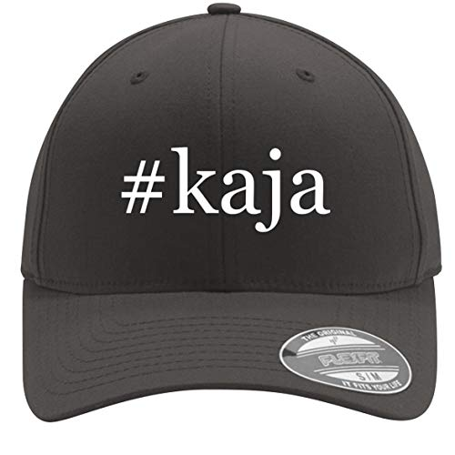 #kaja - Adult Men's Hashtag Flexfit Baseball Hat Cap, Dark Grey, Small/Medium