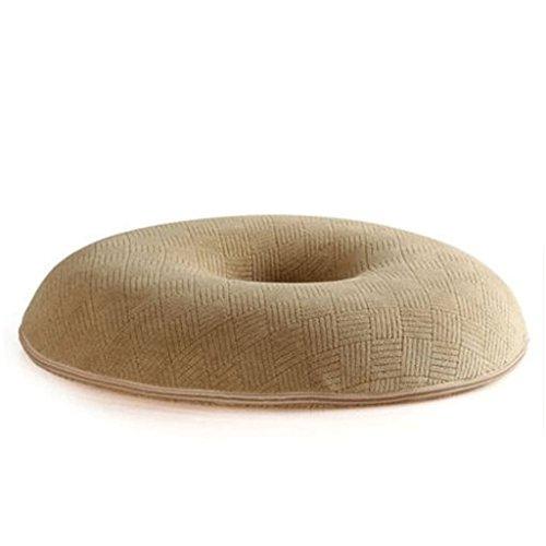 Coussin KKY-Enter Light Tan Fast Rebound Circle Plus épais Chair Mat Diamètre: 40cm