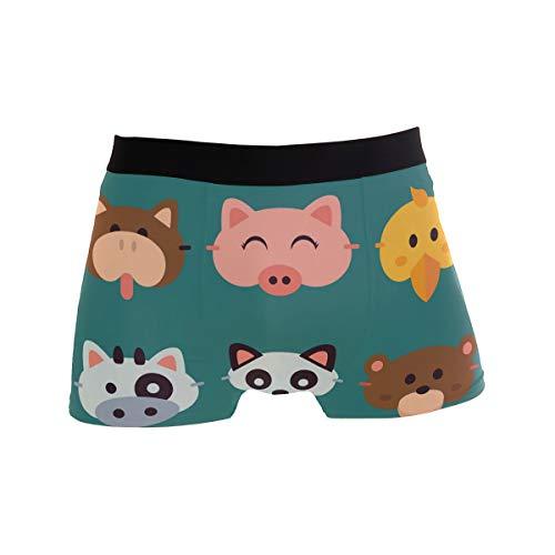 Animals Herren Unterwäsche Boxershorts bequem Casual Daily Boxer Shorts Männer Sexy Unterhose Geschenk für Mann Gr. M, Schwarz