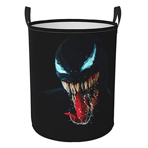 niushan and Spider - Cesta para la colada grande, resistente al agua, portátil, plegable con asa para lavandería, almacenamiento sucio, cesta de ropa, tamaño mediano