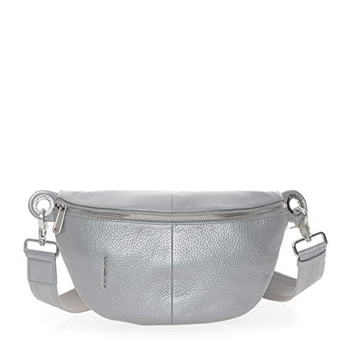 Mandarina Duck Damen Mellow Lux Bum Bag Kuriertasche, Silber (Silver), 10x16x30 Centimeters (W x H x L)
