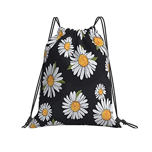 Little Daisy, bolsa de gimnasio con cordón, bolsa de viaje deportiva, mochila ligera impermeable unisex