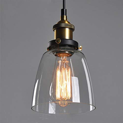 INDUSTRIE Loft Abat-jour rétro en verre à LED avec pendentif en verre pour cuisine Loft Chambre Office Home décoratif Stil D