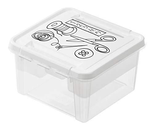 SmartStore - Deco 3168710 - Caja de almacenamiento para accesorios de costura (12 unidades), color blanco