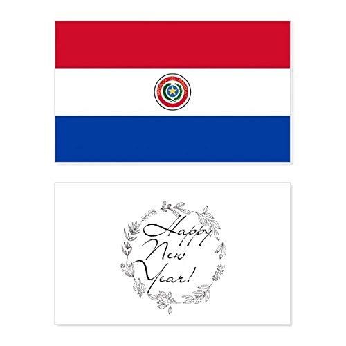 Paraguay Nationale Vlag Zuid-Amerika Land Nieuwjaarskaart Herdenkingsbericht Zegen