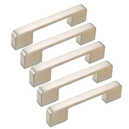 FBSHOP(TM) 5PCS Nickel gebürstet Edelstahl-Zinklegierungs-Küchenschrank-Türgriff, Schrank-Fach-Schlafzimmer Möbelgriffe, Stangen-Fach-Möbel ziehen Türknauf -96MM