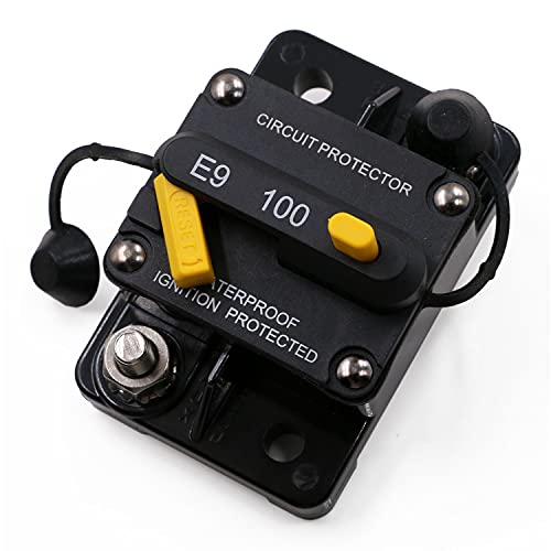 Gloaso Circuit Breakers 100 Amp Heavy Duty Thermal Circuit Breaker 1/4
