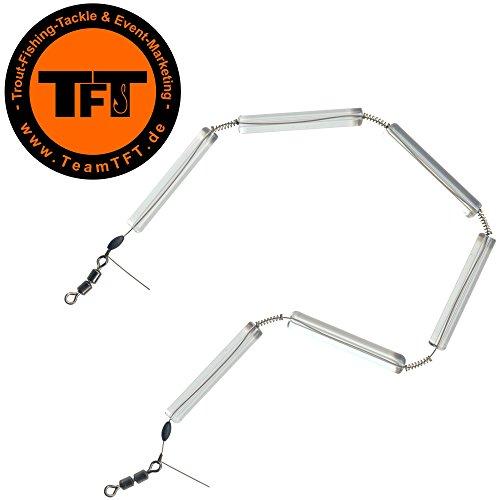 TFT Tremarella Glas Federketten - Federkette zum Forellenangeln, Glasfederkette zum Angeln auf Forelle, Tremarellaangeln, Gewicht:4.5g