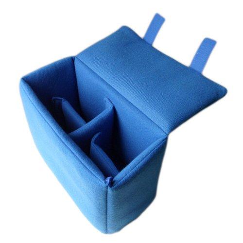 DSLRカメラバッグオーガナイザーバッグ挿入パーティションパッド入りパッケージwith Removableパーティションpads-blue