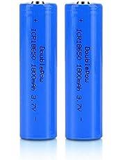 2 stks 18650 lithium batterij 1800 mah 3.7 v oplaadbare zaklamp batterij