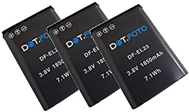 Dot Foto EN-EL23 PREMIUM 3 8v 1850mAh Replacement Rechargeable Camera Battery for Nikon  See Description for Compatibility