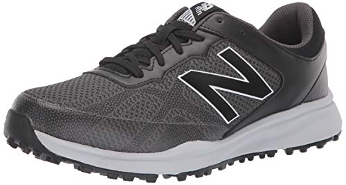 New Balance Men's Breeze Breathable Spikeless Comfort Golf Shoe, Black/Grey, 15 D D US