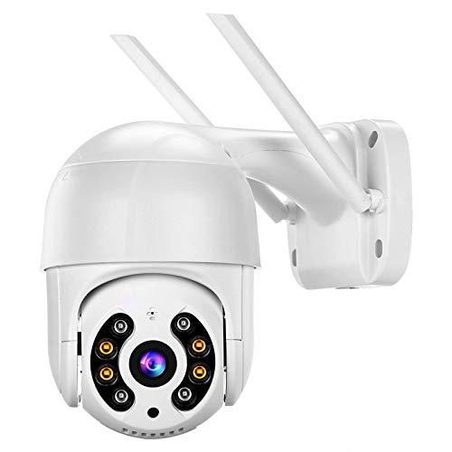 Cámara de vigilancia inalámbrica, cámara WIFI 1080P, con visión nocturna, detección de IA humanoide a prueba de agua, audio bidireccional, adecuada para el sistema de monitoreo de seguridad del hogar