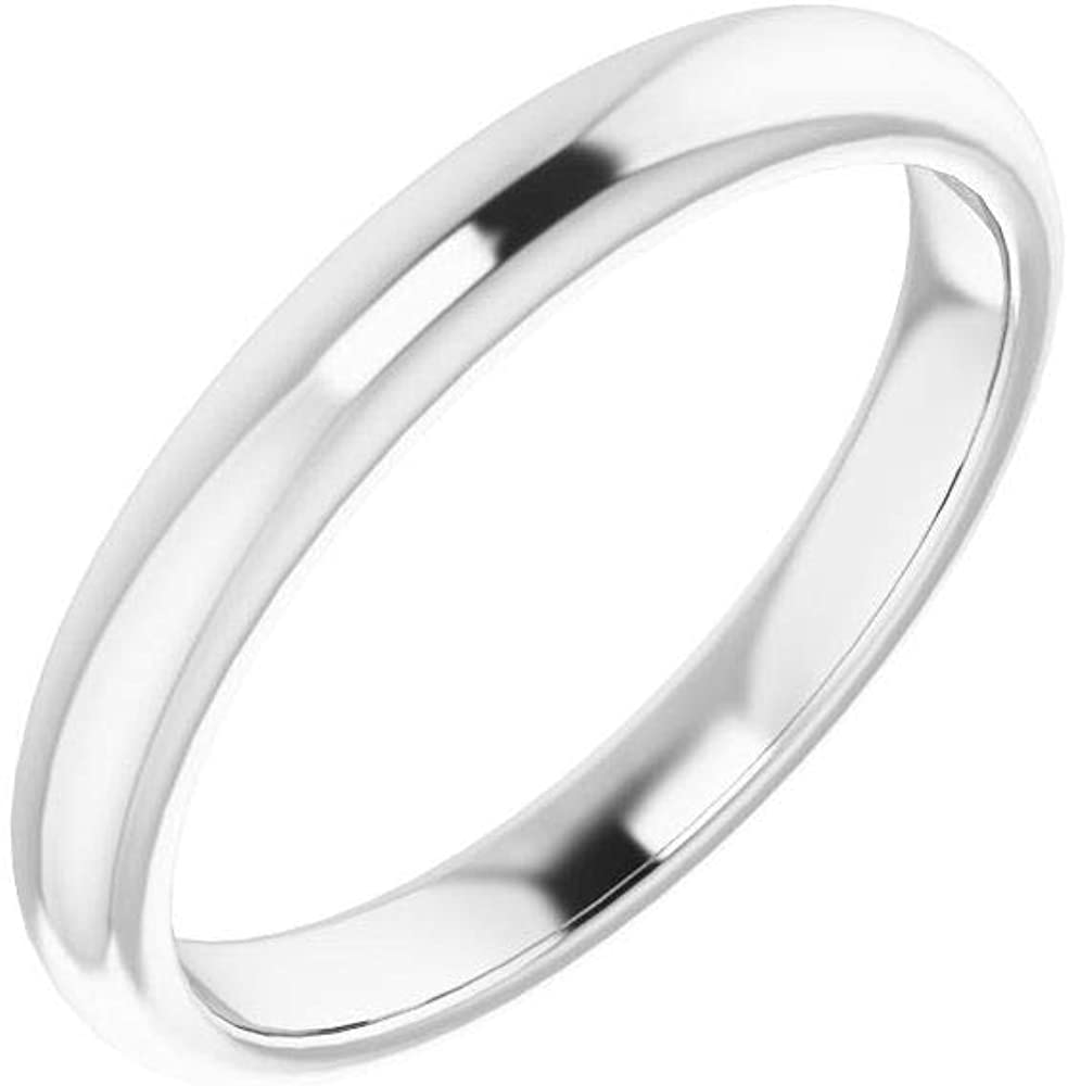 Solid Platinum Curved Notched online shopping Wedding for Band 8mm Fashion Ring Cushion