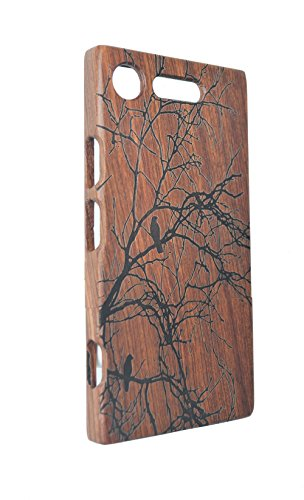 RoseFlower® Holz Schutzhülle für Sony Xperia XZ1 (13,2 cm (5,2 Zoll) - Palisander Baum Handyhülle - Natürliche Handgemachte Holzhülle Hülle Handytasche Handy Case Cover