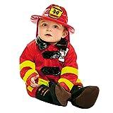 My Other Me Me-203289 Disfraz de bebé bombero, 0-6 meses (Viving Costumes 203289)