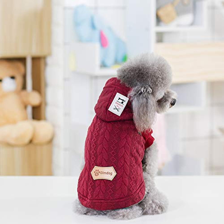 Cat Coats, Pet Puppy Cat Cute Cotton Warm Hoodies Dog Hoodies Pet Clothes Warm Cute Cotton Soft Puppy Outfit,Red,XXL
