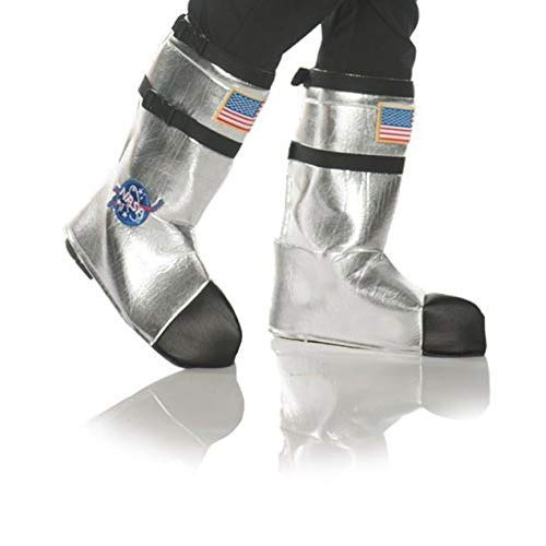 UNDERWRAPS unisex adults Astronaut Boot Top Covers - Silver Adult Sized Costumes, Silver, One Size US