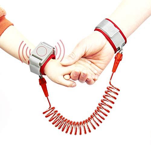 ASDHOI Cuerda Happywalk Kids Safety perdido Anti muñeca Enlace de tracción con la inducción de Bloqueo, Longitud: 2 m (Color : Rojo)