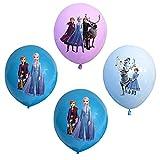 24 globos de princesa congelada Wopin – Set de decoración de cumpleaños de princesa congelada, globos de fiesta, globos de decoración de cumpleaños para niños, utilizados para cumpleaños