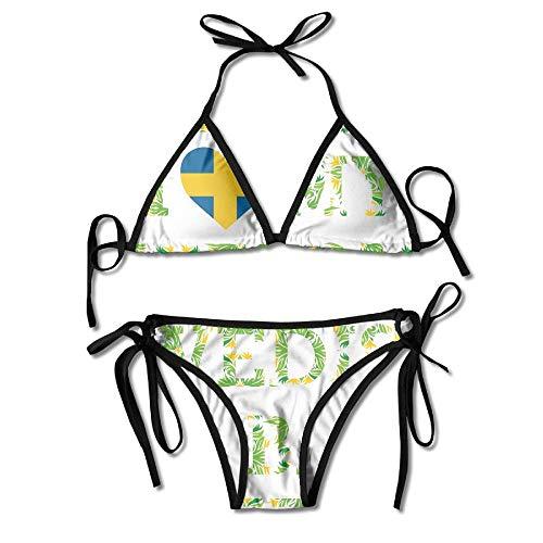 Bikini Ich Liebe Meinen Fantastischen Schwedischen Ehemann Sexy 2 Stück Bikini Strand Badeanzug Nach Hause Frauen Badeanzug Strand Tragen Mode Badebekleidung Haltbaren Pool Hawaii