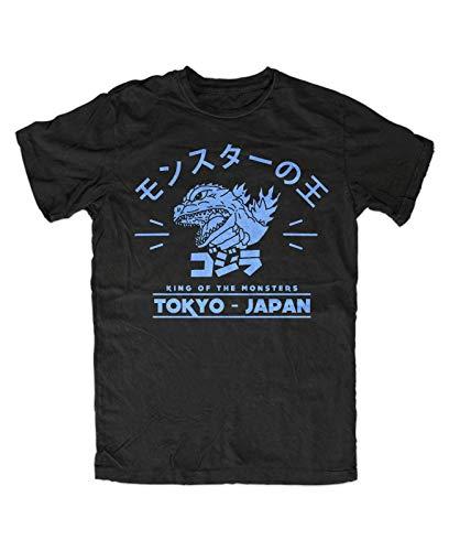Godzilla 4 T-Shirt Mens Summer Fashion Tee Shirt, Herren Japan Nippon Kaiju Kanji Blu-ray Tokyo Gojira Tokyo