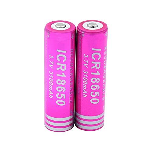 yfkjh Batería Li-Ion De 3.7v 3100mah ICR 18650, Celda De Litio para La Radio del Banco del Poder del Indicador De La Linterna