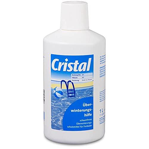Cristal Überwinterungshilfe 1,0 l Hochwirksames Überwinterungsschutzmittel für alle gefüllte Freibäder