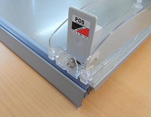 Erweiterungsset Pusher Vorschubsystem Zigaretten Fachteiler Tabak Regal 4-8 Newton (für 30 cm tiefe Fachböden)