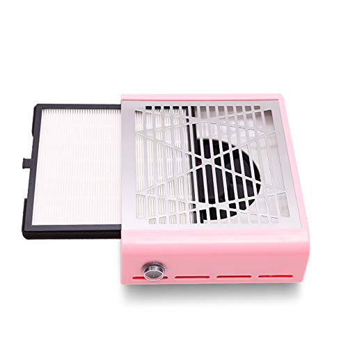 40W Cleaner Nail Vide, collecteur de poussière Machine avec Ongles Forte Puissance Nail Salon Aspirateur pour UV Gel Ongles Vide épousseter Ongles collecteur de poussière